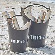 set of 2 firewood buckets