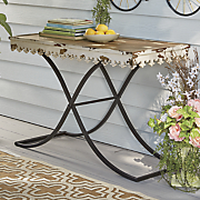 distressed outdoor table