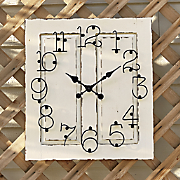 outdoor wood clock