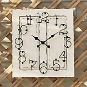 outdoor wood clock