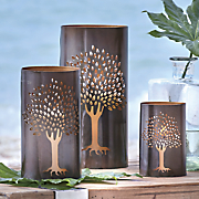 set of 3 metal tree hurricanes