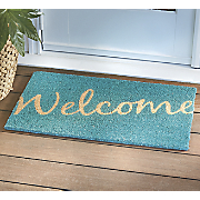 teal welcome mat   28 1 4   x 17 1 4