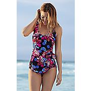 polka garden swim dress