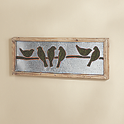 birds sitting wall decor