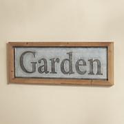 framed garden sign