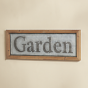 framed garden sign
