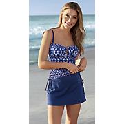 navy swimskirt