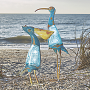 solar crackle glass bird