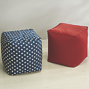 patriotic square pouf