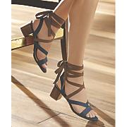 contrast wraparound sandal by midnight velvet