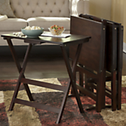 5 pc  tv tray table set