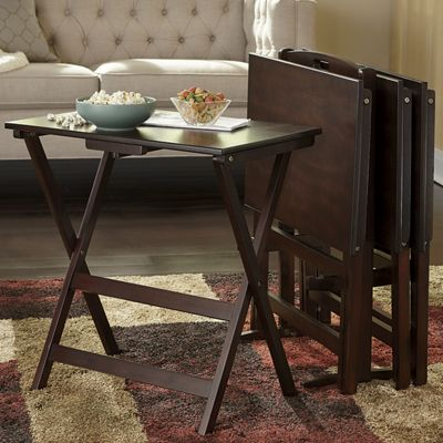 5-Piece TV Tray Table Set