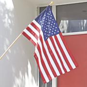 2 pc wood pole us flag kit