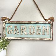 garden hanging sign
