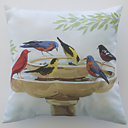 bird bath time pillow