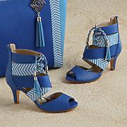 kamarie woven crossover sandal