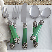20-Piece Double-Capped Emerald Flatware Set