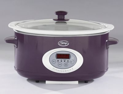 Ginny's Brand Grape 6.5-Qt. Oval Digital Slow Cooker