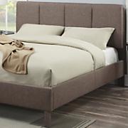 cocoa linen queen size bed