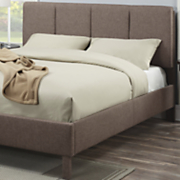 cocoa linen queen size bed