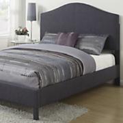 graphite queen size linen bed