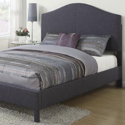 Graphite Queen-Size Linen Bed