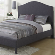 Graphite Queen-Size Linen Bed