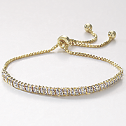 mini link adjustable diamond bracelet