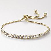 mini link adjustable diamond bracelet