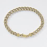 gold over sterling silver curb bracelet