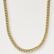 gold over sterling silver curb necklace