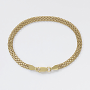 gold over sterling silver bismark bracelet