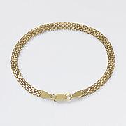 gold over sterling silver bismark bracelet