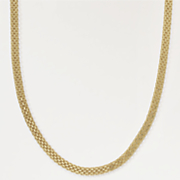 gold over sterling silver bismark necklace