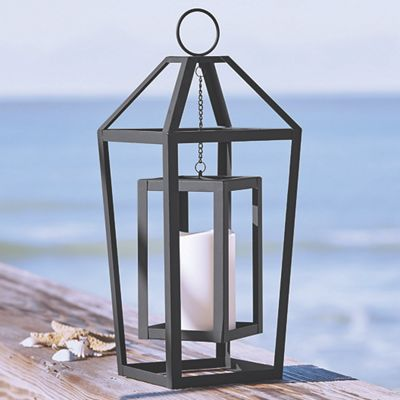 Frame Lantern with LED Candle