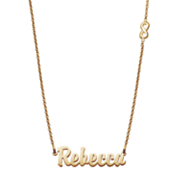 pers mini name pendant on infinity chain