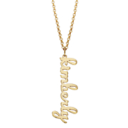 personalized vertical script name necklace