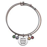 personalized double bangle bracelet