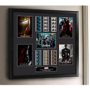 marvel cinematic universe phase 1 mixed  montage framed film cell