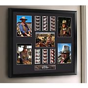 john wayne montage framed film cell