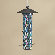 joliet mosaic glass bird feeder