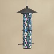 joliet mosaic glass bird feeder