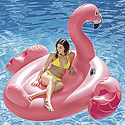 mega flamingo island inflatable by intex