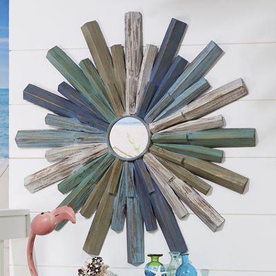 Blue Sunburst Mirror
