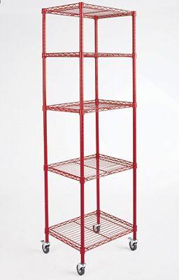 5-Shelf Tower Metal Rolling Rack