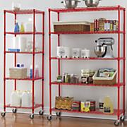 5 shelf metal rolling racks