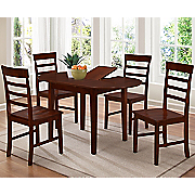 Bridgeport Butterfly Dining Table and Set of 2 Harrison Dining Chairs