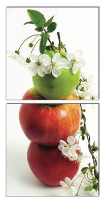 2-Piece Apples Wall Art