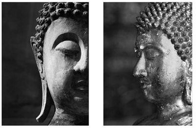 2-Piece Buddha Wall Art