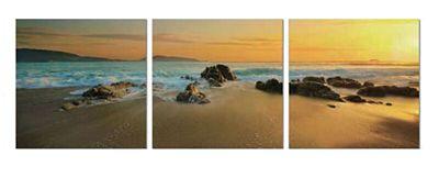 3-Piece Sunset Ocean Wall Art